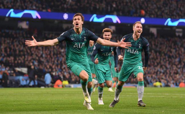 Manchester City 4 3 Tottenham Hotspur Llorente Goal Sends Spurs To Semifinals After Insane
