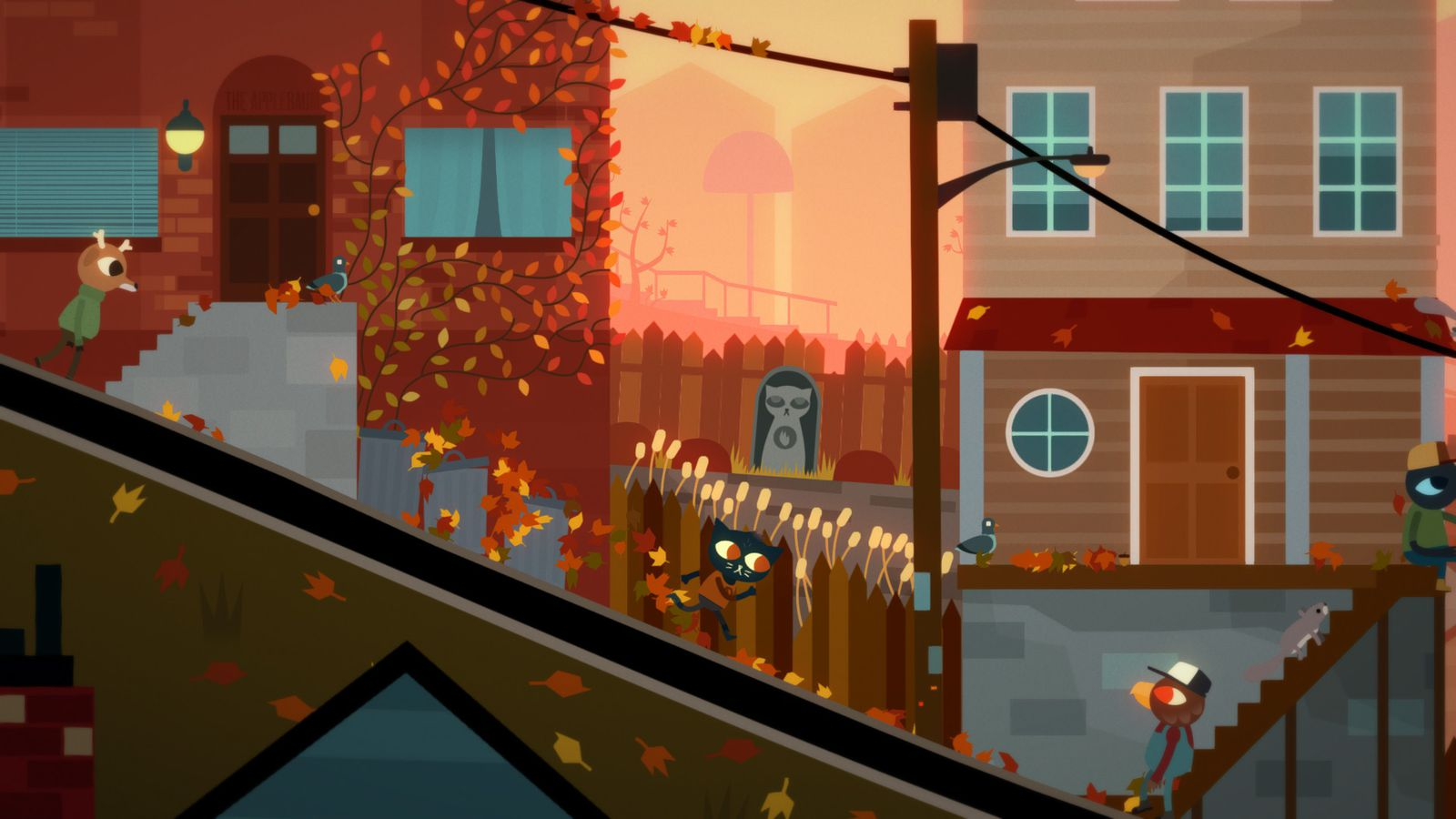 Cat In Fall Wallpaper White Night In The Woods Delayed To February Polygon