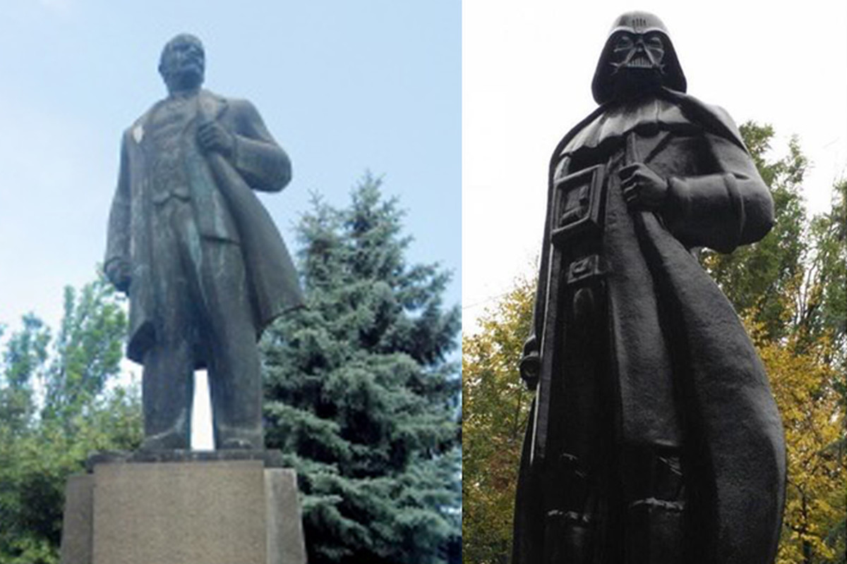 War Quote Wallpaper Hd A Vladimir Lenin Statue Has Been Transformed Into Darth