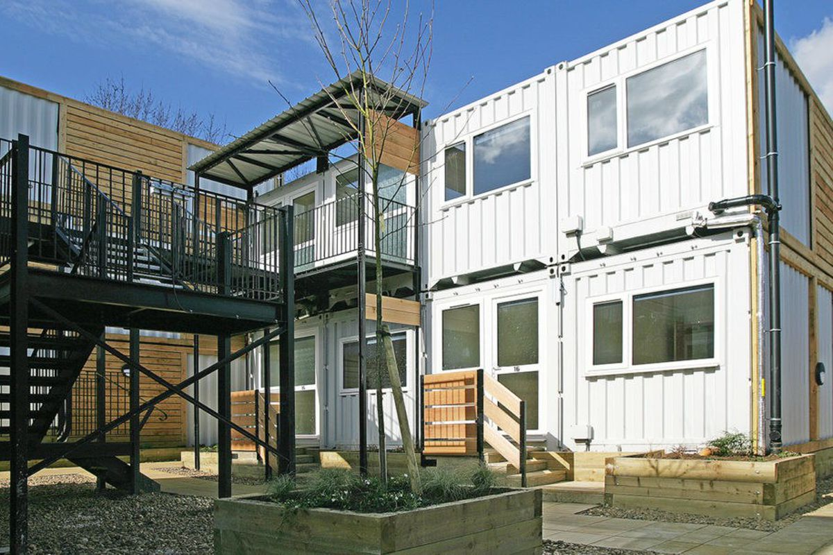 Container Haus London Shipping Containers Transform Into Emergency Housing For
