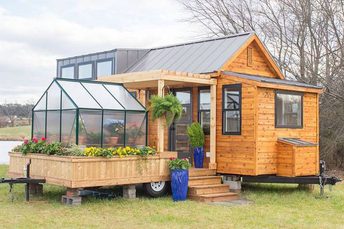 Container Haus Holland Tiny House Comes With A Greenhouse And Porch Curbed