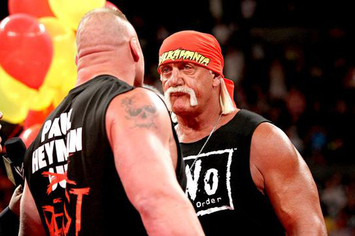 Wwe Hulk Hogan Hulk Hogan Talking Up Issues With Brock Lesnar Over