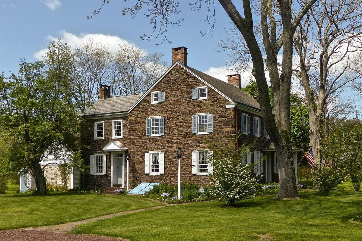 Stone Farmhouse For Sale Pa Historic Stone House On Over 14 Acres Asks 965k Curbed