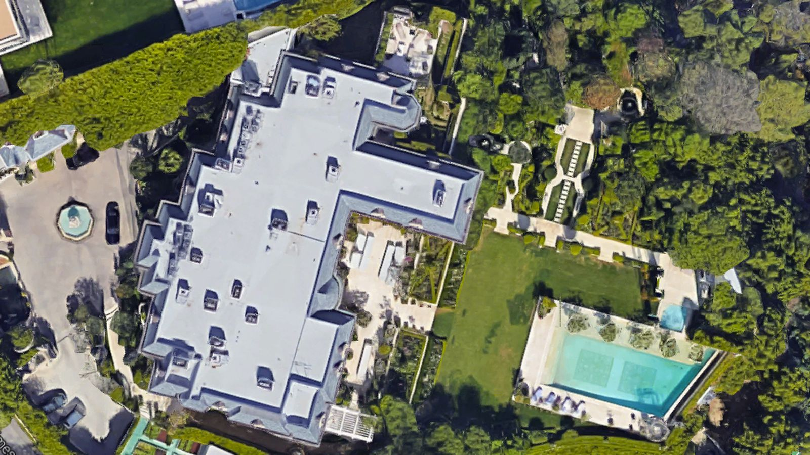Bel Air Mega Mansion For Sale Incredibly Lavish Mohamed Hadid Built Megamansion Is Back