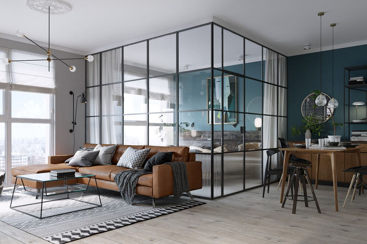 Perfect Bedroom Is Enclosed By Which Helps Keep Compact Space Lightand Photos Via Design Milk Apartment Has Everything You Need Curbed How Big Is 500 Square Feet Studio How Big Is 500 Square Feet Offi houzz-02 How Big Is 500 Square Feet
