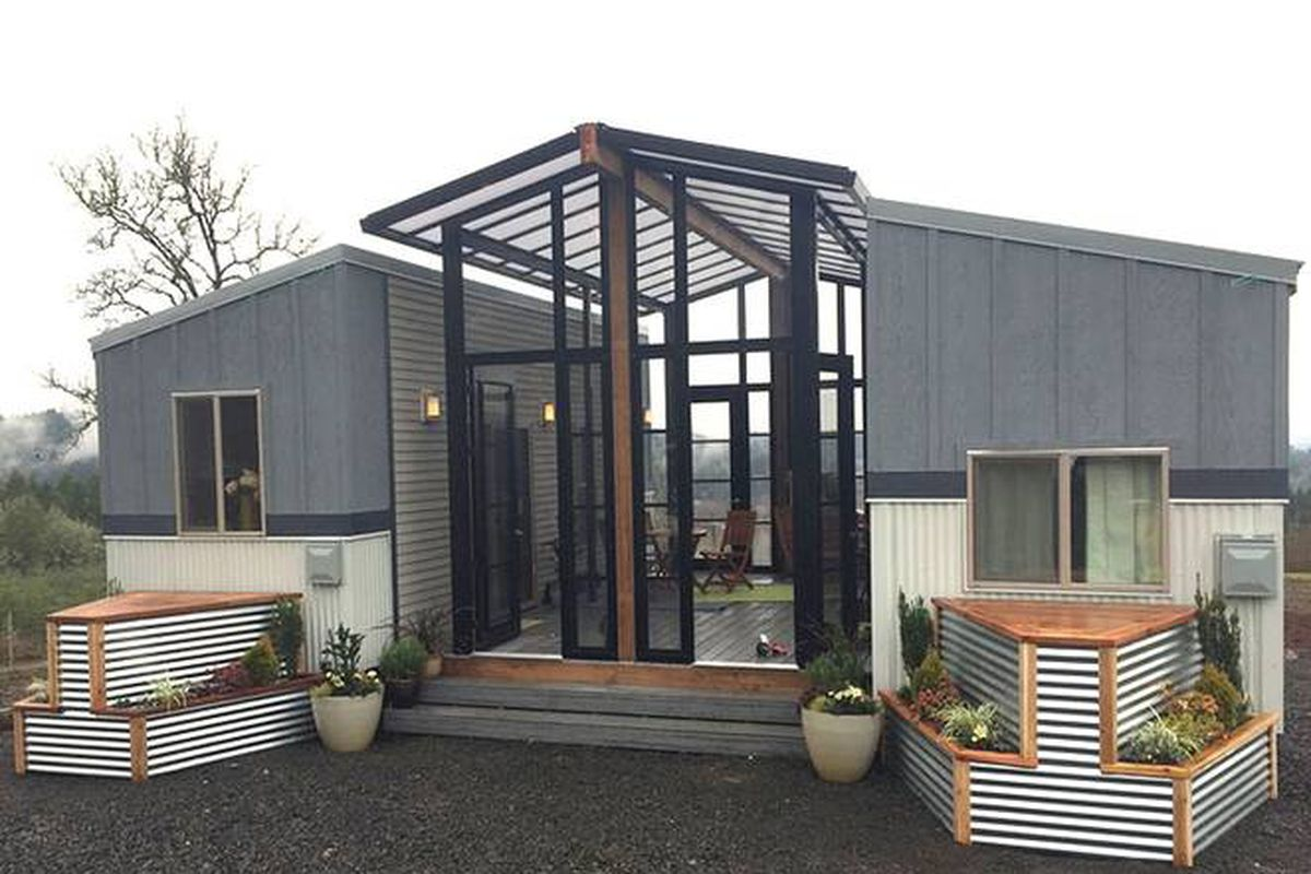 Small Space House Design Tiny Houses And Open Air Sunroom Combine Into One Family