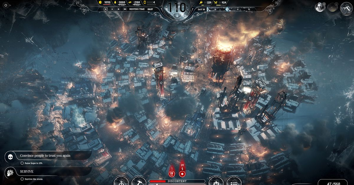 Fall Screen Wallpaper Frostpunk Is A Game About Suffering On An Industrial Scale