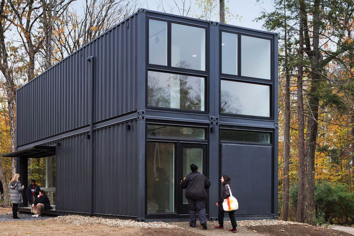 Architekt Container Haus Shipping Containers Create Modern Media Lab At Bard