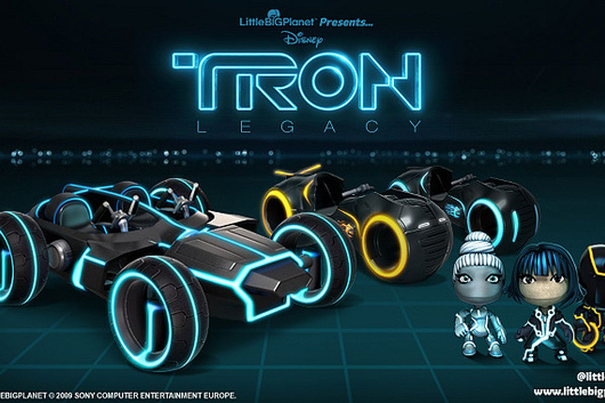God Of War D Littlebigplanet Karting To Receive Tron Legacy Vehicles