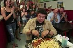 Howling In Battle That Was Man V It Appears As Though Food Has Three Adam Richman Is Taking A Break From Being Man V Man V Food Reborn As Man V Food Nation Eater