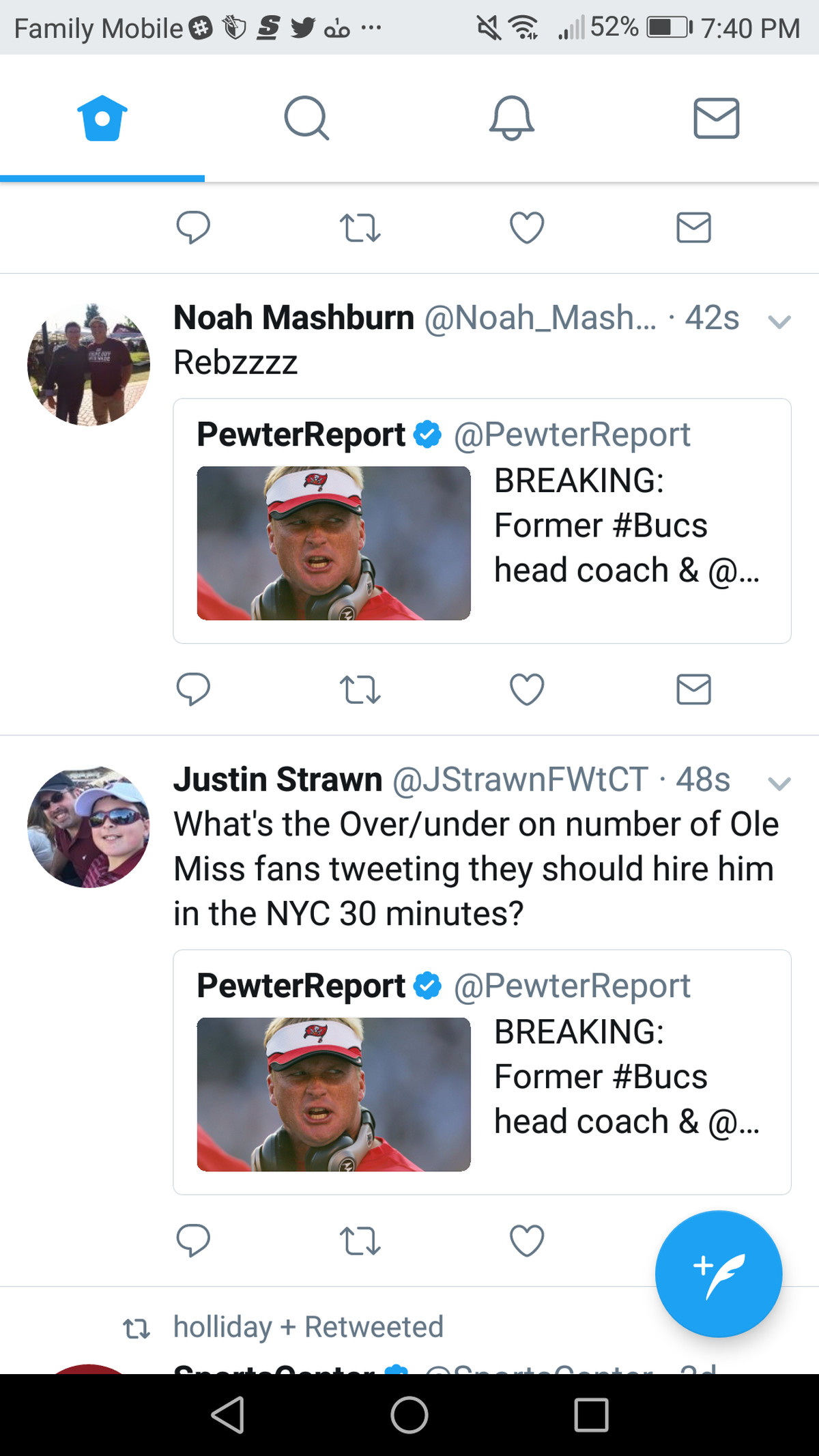 Stupendous How Itwas Going To Be Obvious That Jon Gruden Would Be Tied To We Tried To Troll Ole Miss Fans Accidentally Trolled Sports Tweeted Just A Few Seconds Apart About Latest Grumors dpreview Obvious Troll Is Obvious