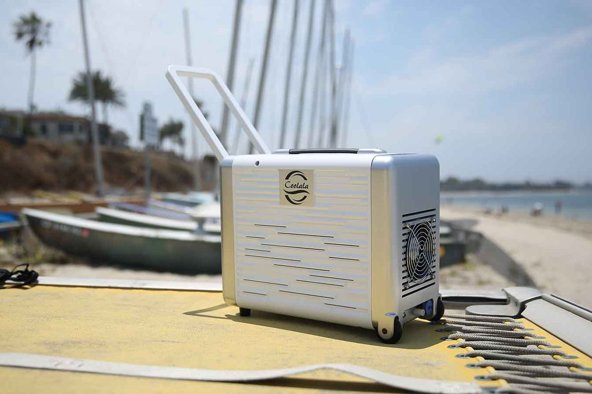 Diy Air Conditioner No Electricity Coolala Is The Worlds First Portable Solar Powered A C