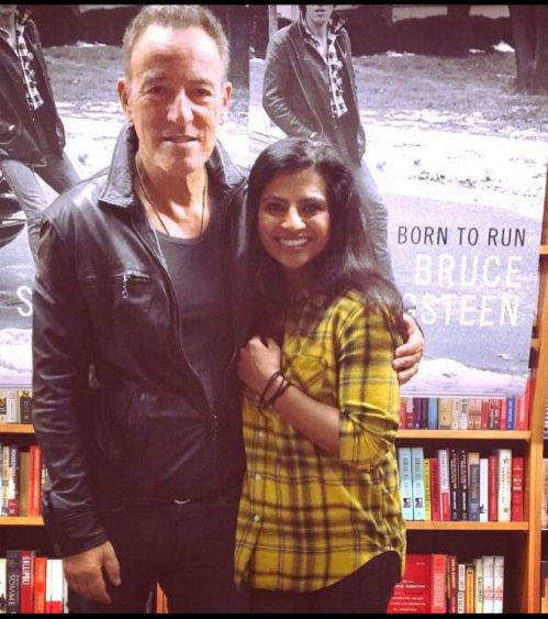 Bruce Springsteen and the author's younger sister Almas