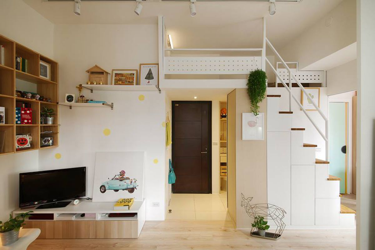 Micro Living Apartment Compact Apartment Gets Efficient Airy Makeover In Taiwan