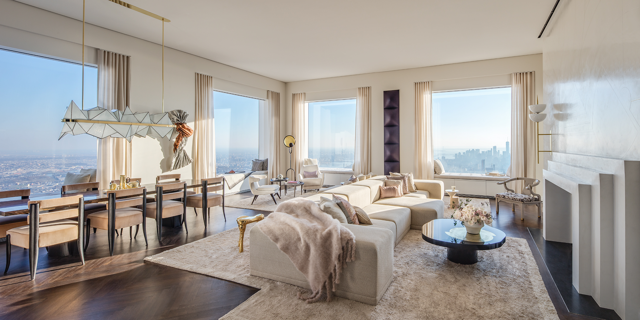 Two Floor Apartment Nyc Peek Inside 432 Park Avenues 40m 92nd Floor Penthouse