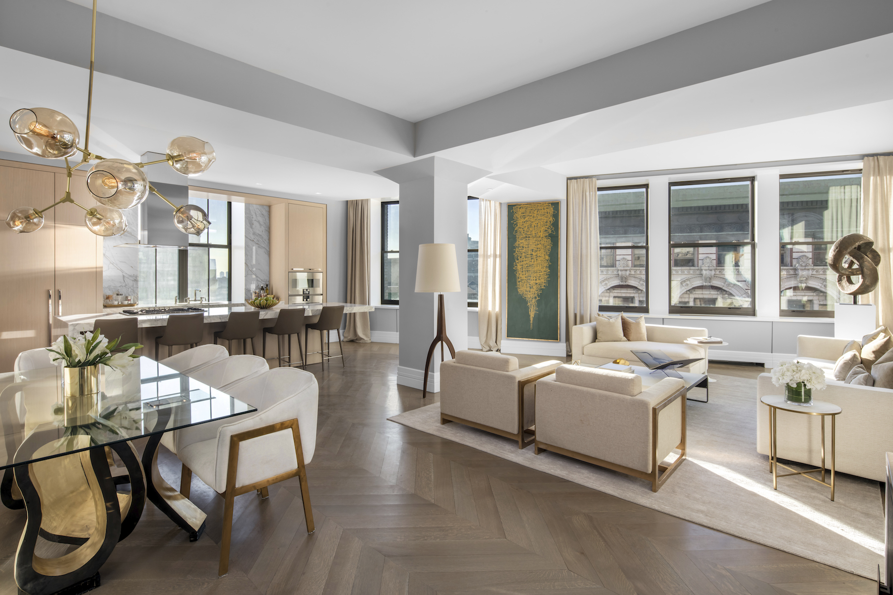 Two Floor Apartment Nyc 212 Fifth Avenue Seeks To Stoke Sales With New Model Units
