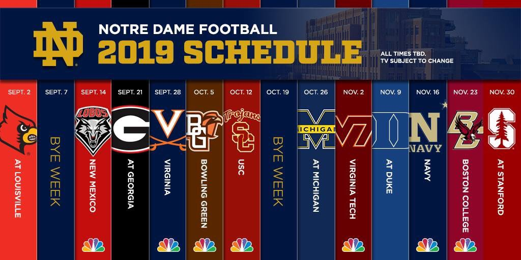 Notre Dame Football Schedule 2019 2019 2020 New Car Price And Reviews