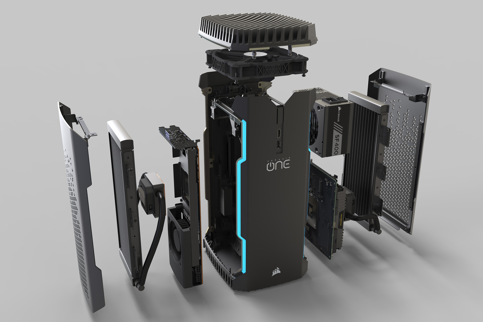 Solid Black Wallpaper Corsair One Review A Console Like Pc In The Age Of Pc