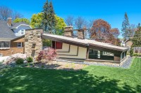 Midcentury modern home with scotch and music room and ...