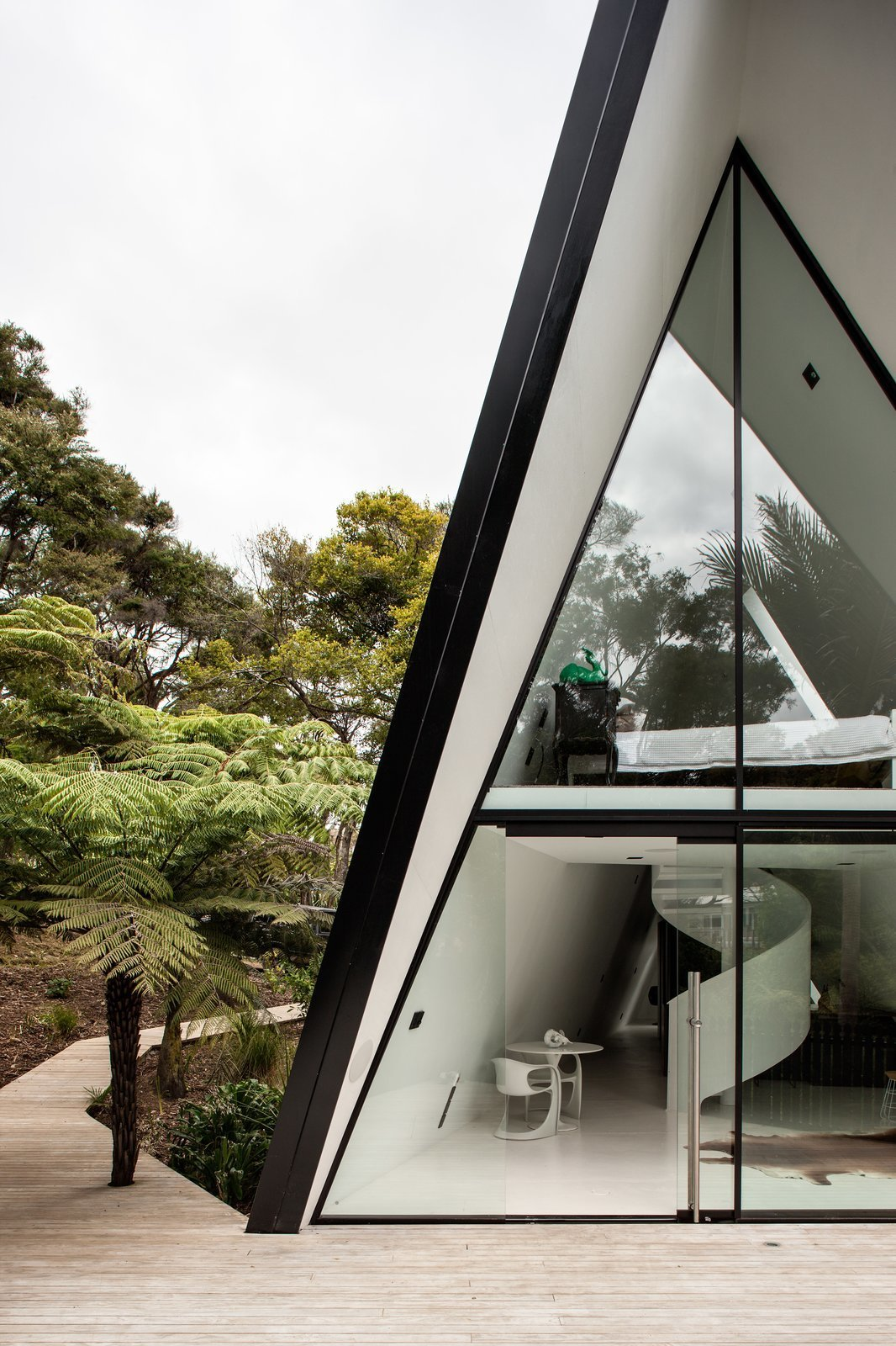 Open Kitchen No Island This Modern Tent House Is A Fuss-free Nature Escape - Curbed