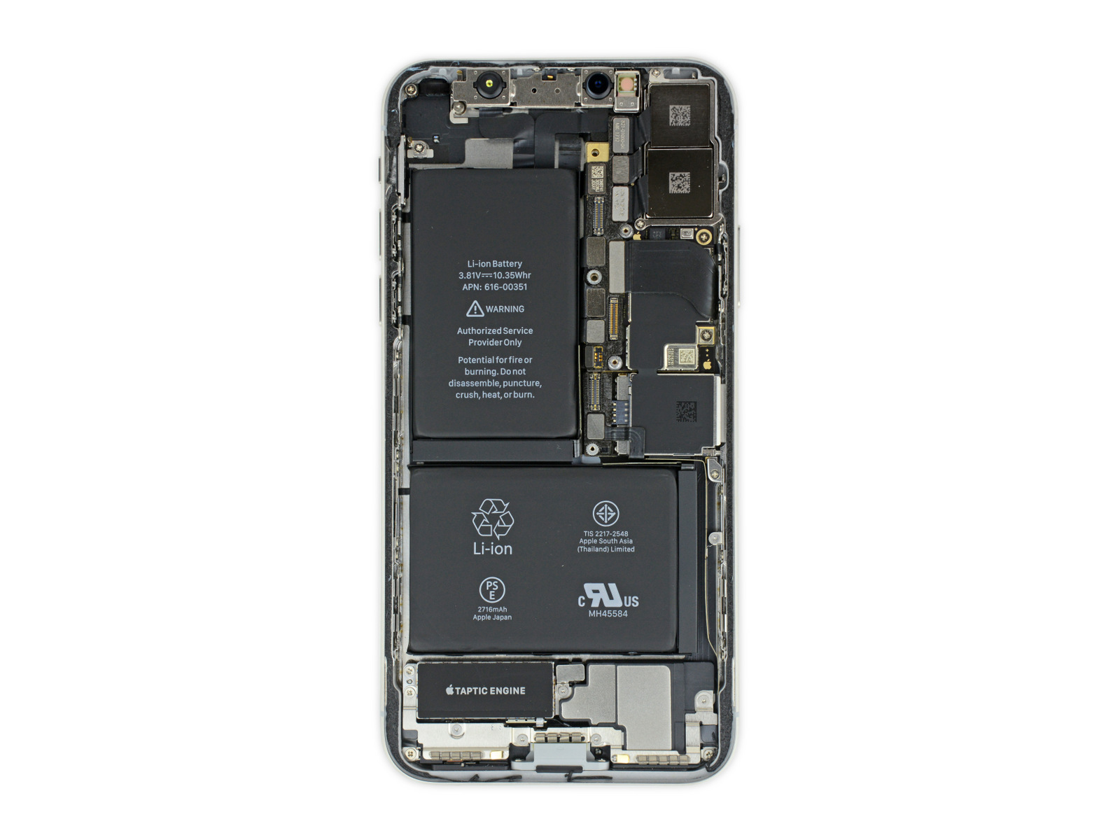 Iphone 8 Plus Internals Wallpaper Iphone X Ifixit Teardown Exposes Face Id Reveals Two