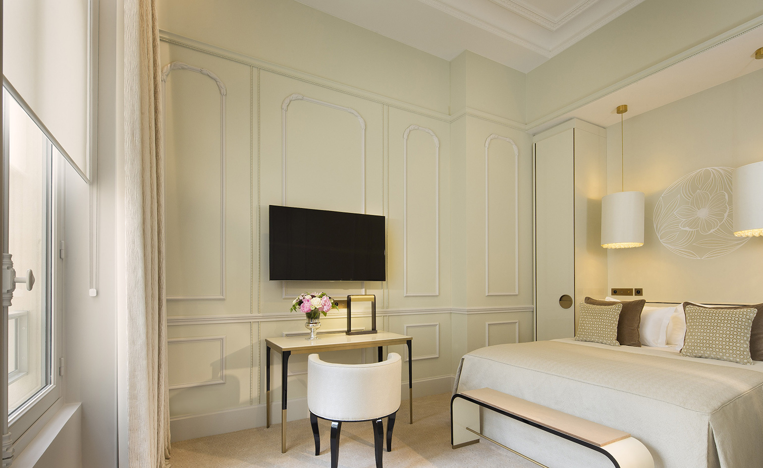 Black And Gold Wallpaper Le Narcisse Blanc Hotel Review Paris France Wallpaper