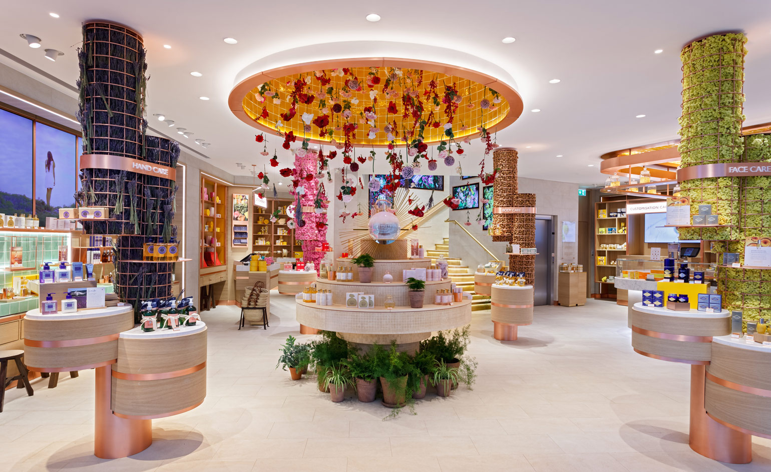 Fall Ceiling Wallpaper Design L Occitane En Provence Launches Its Flowery London