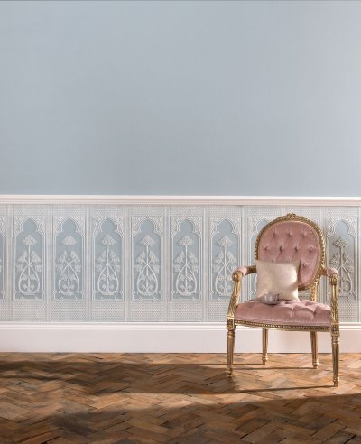 Gothic Dado by Lincrusta - Paintable : Wallpaper Direct