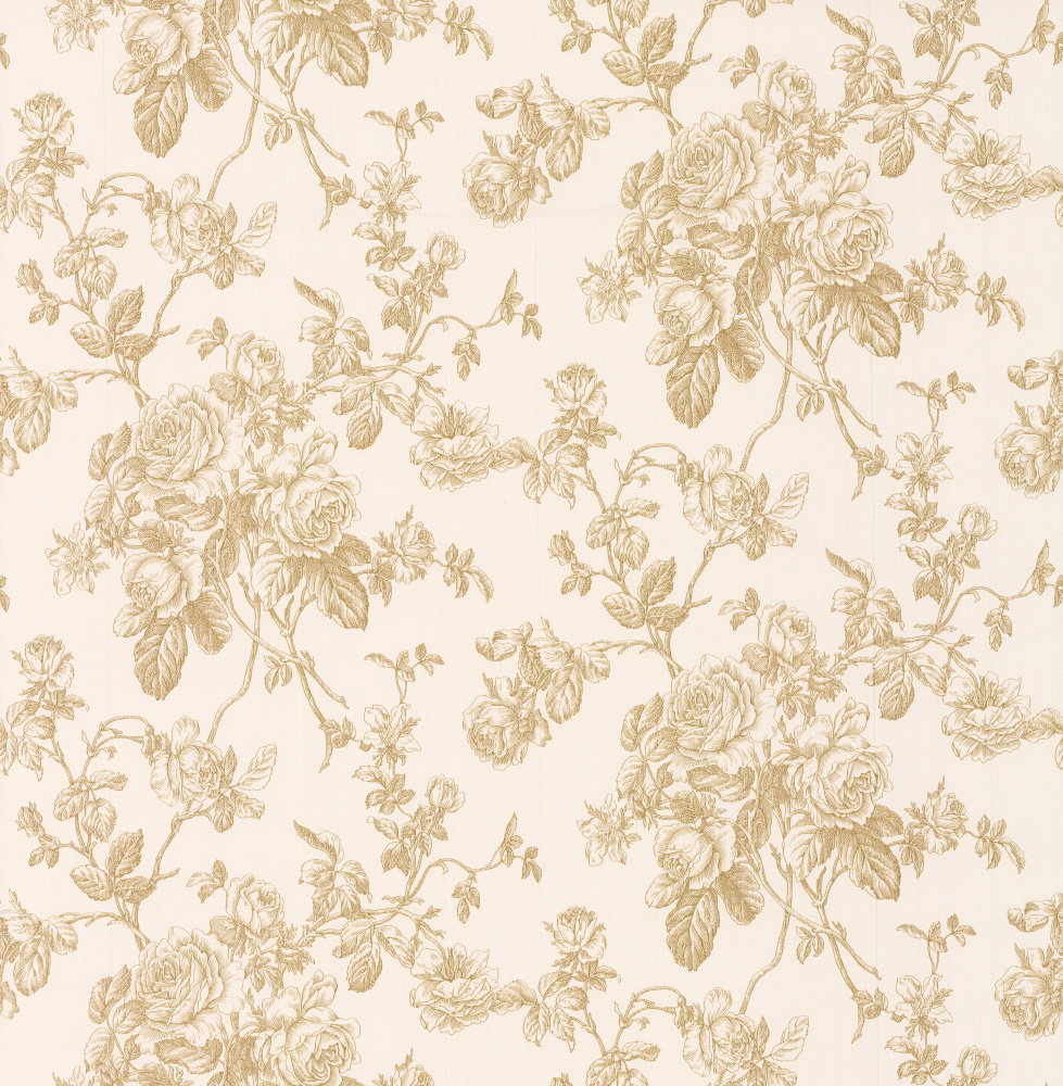 Metallic Gold Wallpaper Rose Trail By Albany Metallic Gold 21504