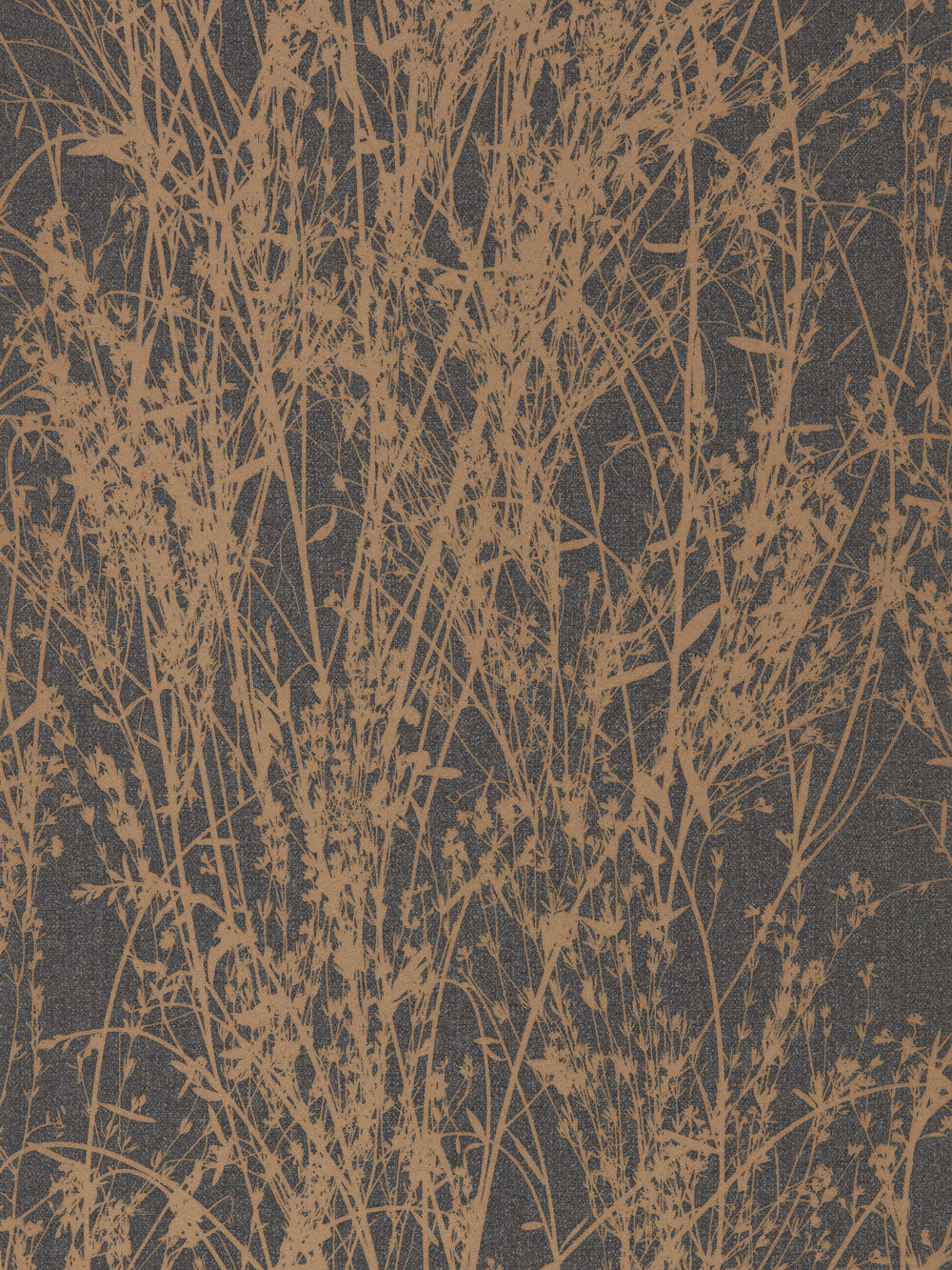 Black Glitter Wallpaper Bedroom Meadow Canvas By Sanderson Bronze Charcoal Wallpaper
