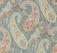 Cashmere Paisley by Sanderson - Teal / Spice : Wallpaper ...