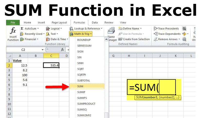 add excel function