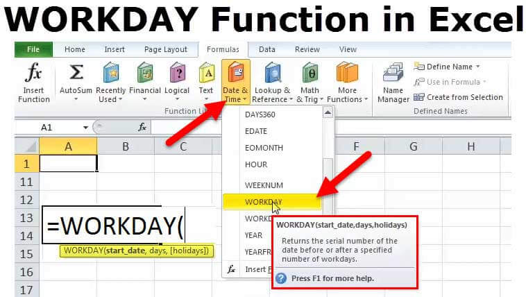 WORKDAY in Excel (Formula, Example) How to use Workday Function?