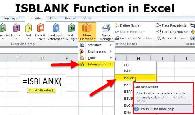 ISBLANK in Excel (Formula, Examples) How to Use ISBLANK Function?