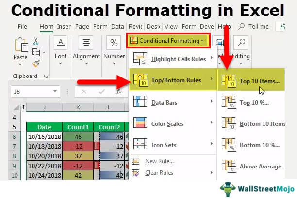Conditional Formatting in Excel (Formula, Examples) How to Use?