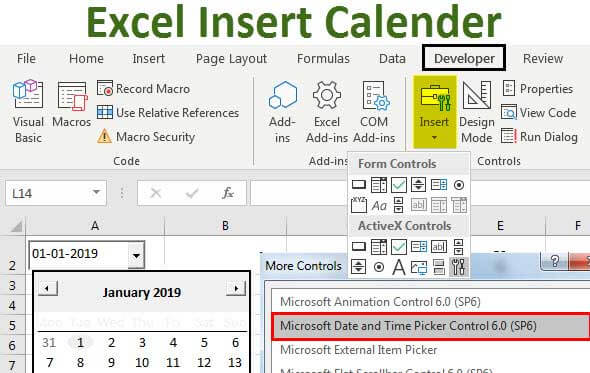 how to insert calendar in word