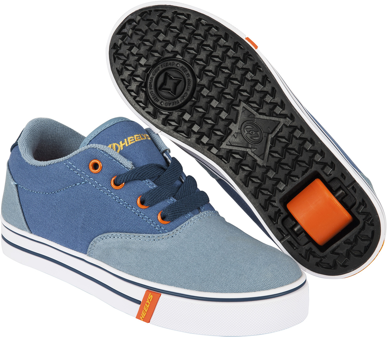 Schuh Mit Rollen Heelys Launch 2 Schuh 2016 Denim Light Blue Orange