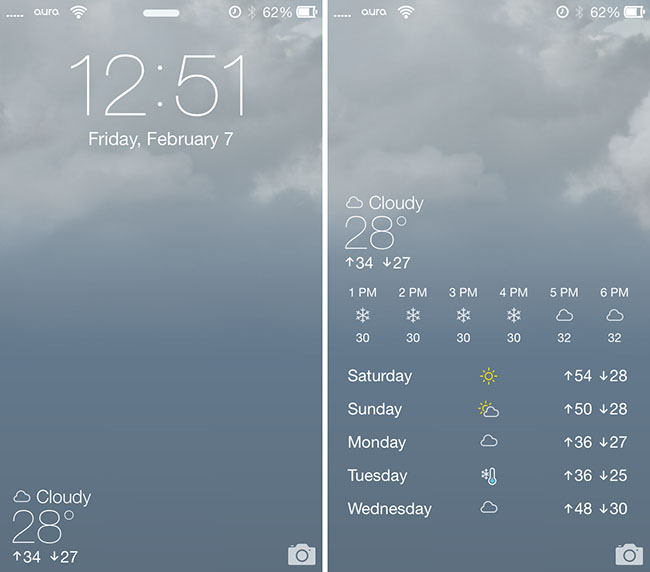Animated Wallpaper For Iphone 5 Without Jailbreak Forecast Ios 7 Animated Wallpapers Weather For Your