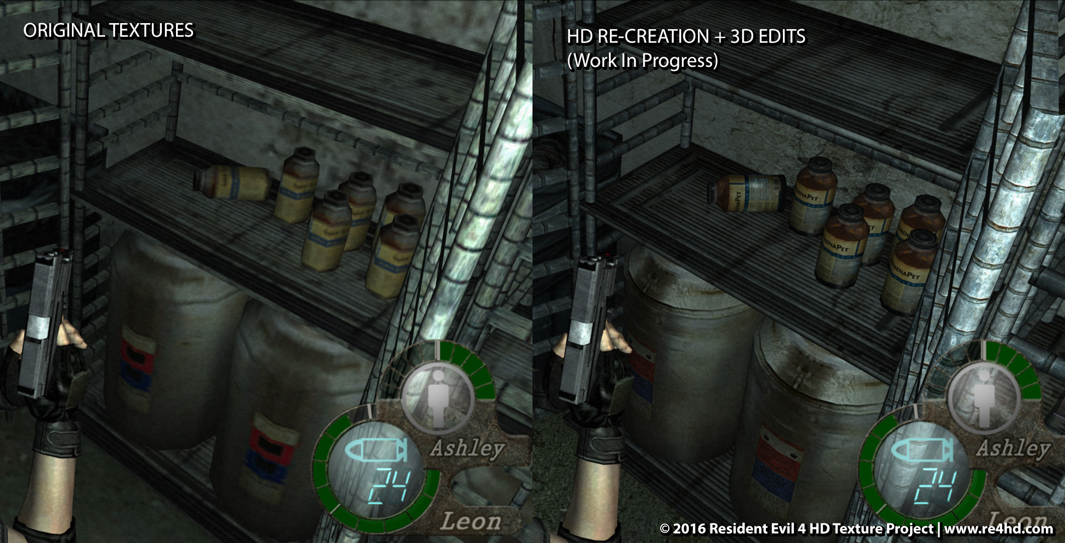 Flashlight 3d Wallpaper Resident Evil 4 Hd Project Gets New Screens And Video