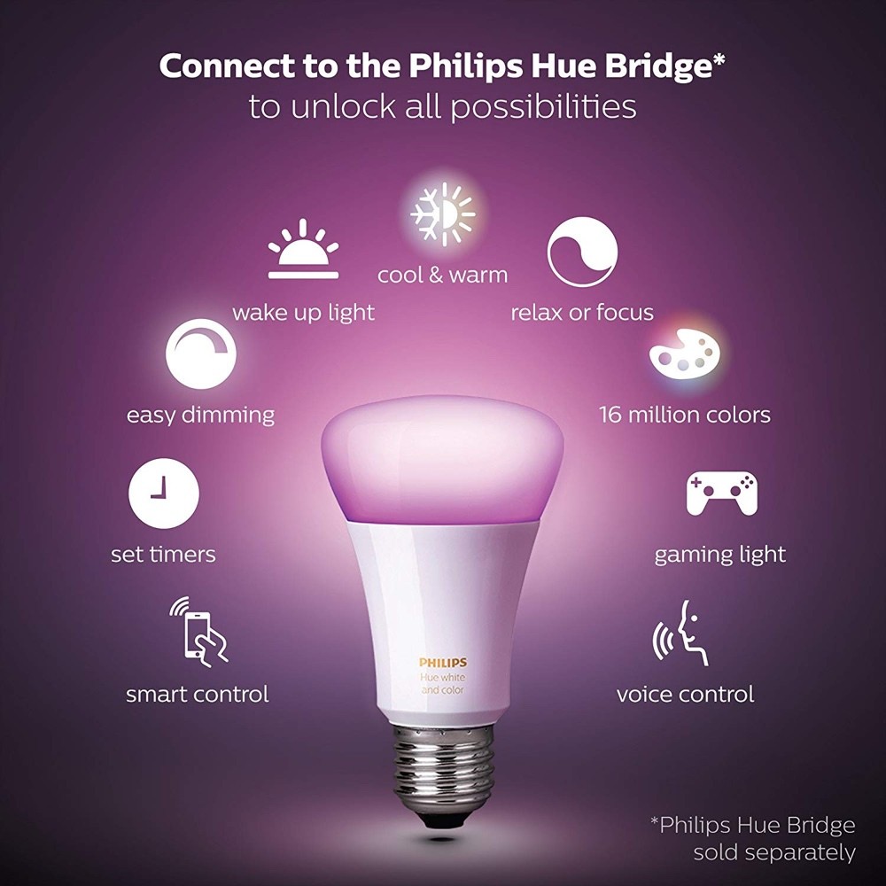 Philips Hue Bridge Homekit Pick Up A Single Philips Hue Rgb Light Bulb For Just 35 Today