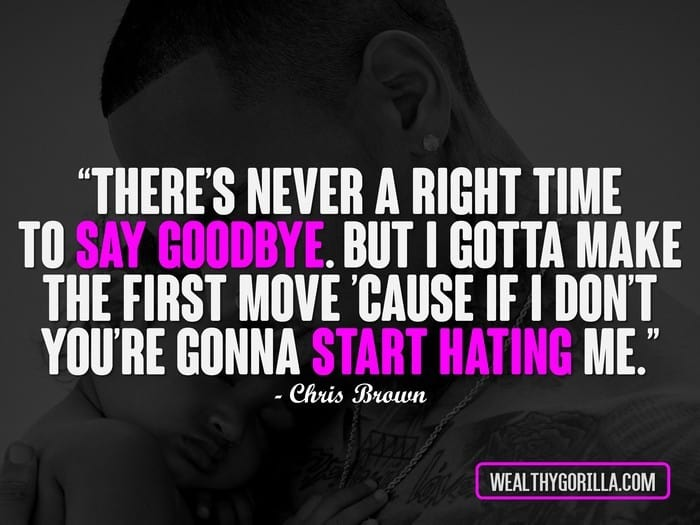 Motivational Funny Quotes Rap Wallpaper 40 Inspirational Chris Brown Quotes Wealthy Gorilla