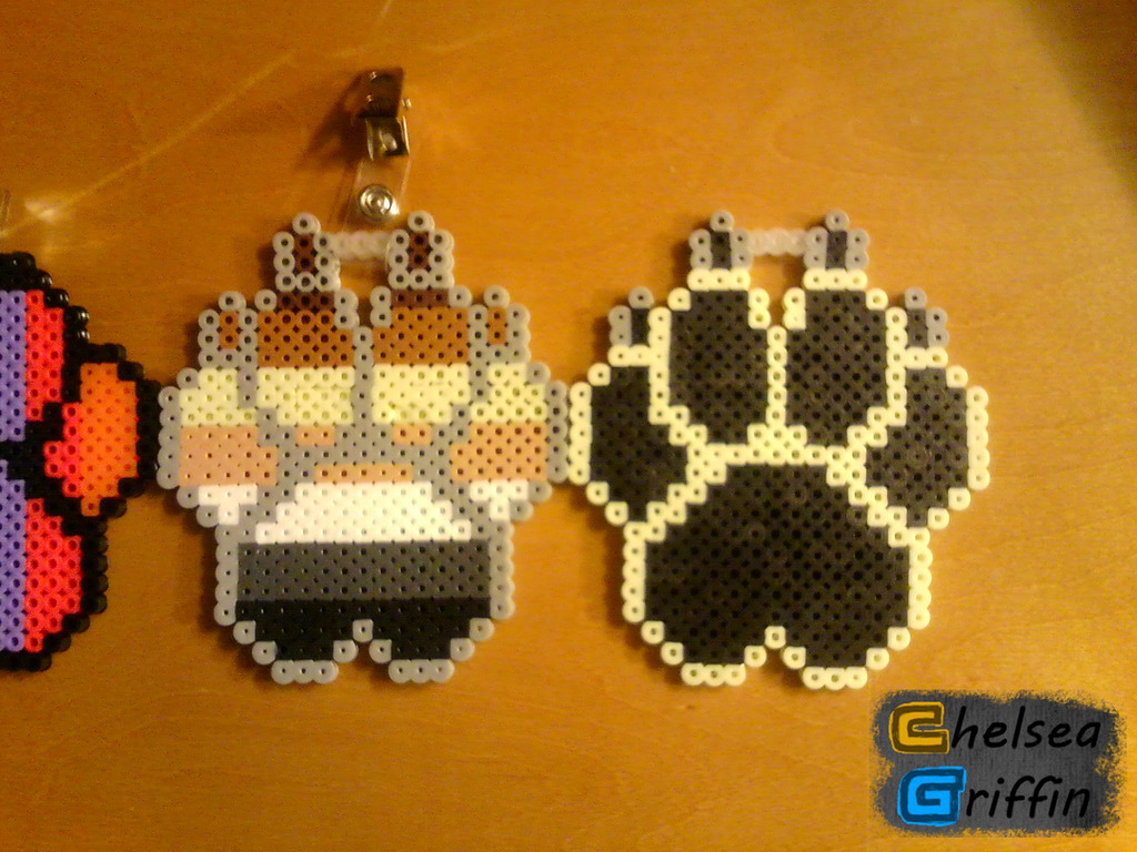 Cute Paw Print Wallpaper Bear Pride And Commissioned Paw Print Perler Bead Badges