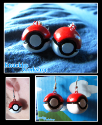 Pokeball Earrings  Weasyl