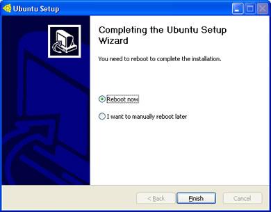 wubi reboot Instalar Ubuntu en Windows Como Cualquier Otro Programa