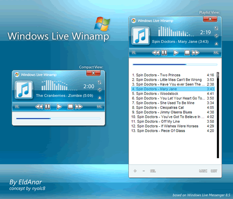 skins winamp Skins winamp, Windows Live Winamp