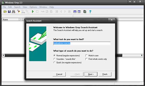 buscar y reemplazar Buscar y reemplazar en varios archivos con Windows Grep