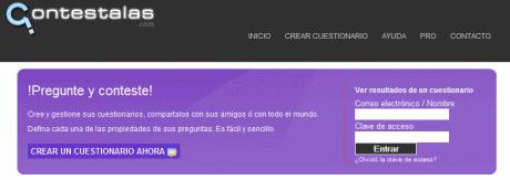 cuestionarios Crear cuestionarios y compartirlos en Contestalas.com