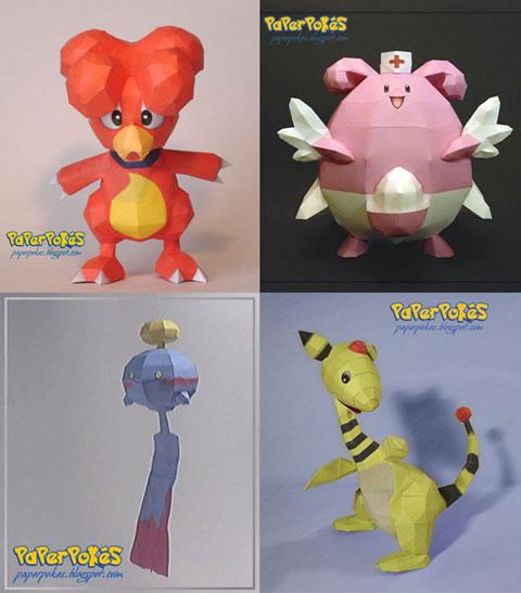 papercraft Recortables de personajes de nintendo