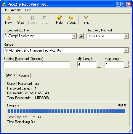 recuperar passwords zip Recuperar passwords de archivos ZIP con PicoZip