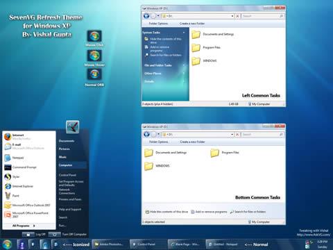 theme windows 7 for xp Tema windows 7 para XP